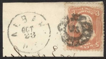 958124 Scott 65 fancy cancel PT-C 17