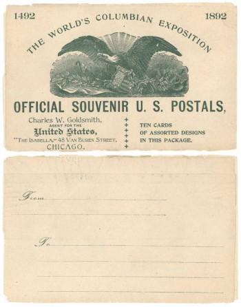 958281 EX24Wa 1892 Goldsmith Columbian Wrapper